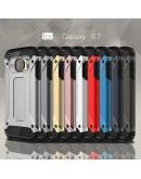 Carcasa protectie spate din gel TPU si plastic pentru Samsung S7 G930, silver