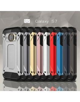 Carcasa protectie spate din gel TPU si plastic pentru Samsung S7 G930, rose gold