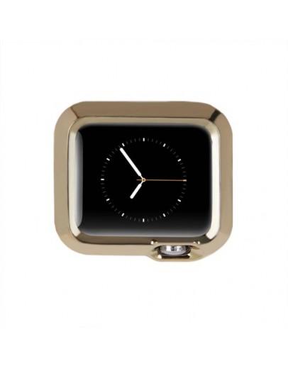 Carcasa protectie din gel TPU pentru Apple Watch 42mm - gold