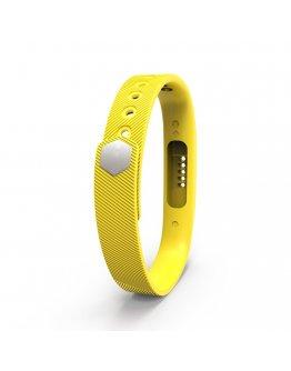 Bratara de rezerva din silicon pentru Fitbit Flex 2, galben