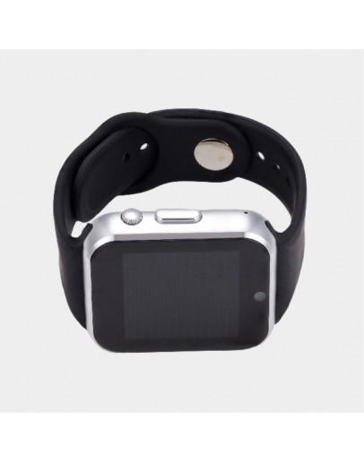 Smartwatch cu telefon incorporat GT08, camera, bluetooth - silver