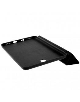 Husa protectie din plastic si piele ecologica pentru Samsung Galaxy Tab S2 8.0 T710 T715 - neagra