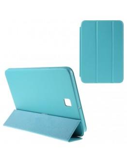 Husa protectie din plastic si piele ecologica pentru Samsung Galaxy Tab S2 8.0 T710 T715 - albastra