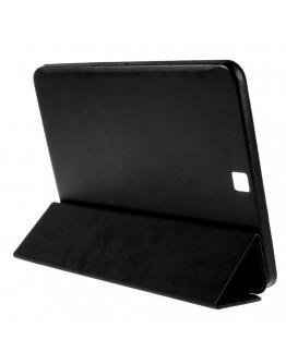 """Husa protectie din plastic si piele ecologica pentru Samsung Galaxy Tab S2 9.7"""" - neagra"""