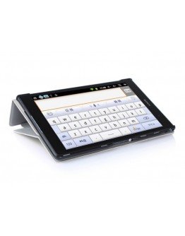 Husa protectie din piele ecologica pentru tableta Sony Xperia Z3 Compact - alba