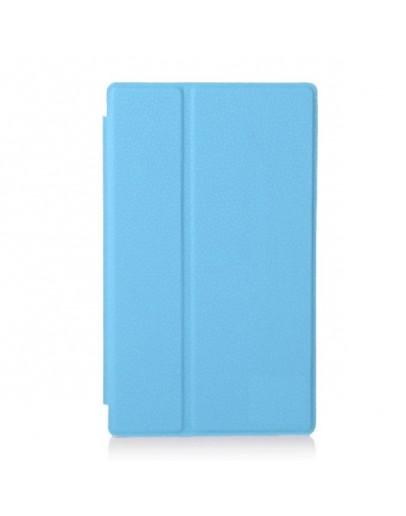 Husa protectie din piele ecologica pentru tableta Sony Xperia Z3 Compact - albastra