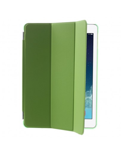 Pachet Smart Cover magnetic + Carcasa protectie spate pentru IPAD AIR 1 (2013-2014), verde