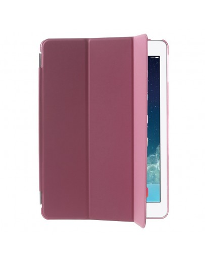 Pachet Smart Cover magnetic + Carcasa protectie spate pentru IPAD AIR 1 (2013-2014), roz