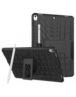 """Carcasa de protectie cu suport din plastic si gel TPU pentru iPad Pro 10.5"""" (2017)/ Air 3 (2019), neagra"""