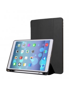 Husa protectie din piele ecologica si gel TPU pentru iPad Pro 10.5 (2017)/ Air 3 (2019), neagra