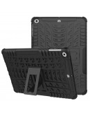 Carcasa protectie spate cu suport din plastic si gel TPU pentru iPad 9.7 inch (2017/2018), neagra