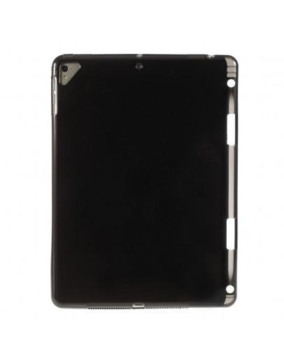 """Carcasa protectie spate cu slot pentru stilou pentru iPad 9.7"""" (2017/2018), neagra"""