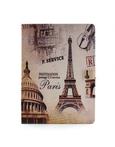 Husa protectie imprimata cu Turnul Eiffel pentru iPad Pro 12.9 (2015)